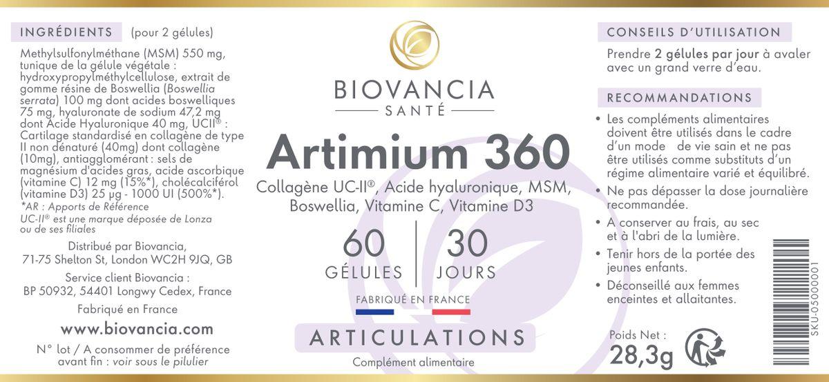 Etiquette Composition Artimium 360
